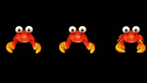 Cartoon Crabs Crawl stock footage