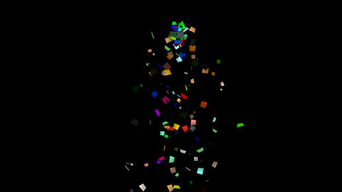 falling paper card scrap,explosion shred Animation