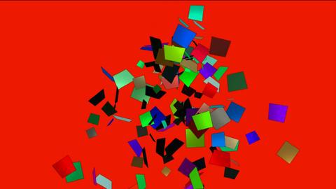 falling paper card debris,explosion scrap Stock Video Footage