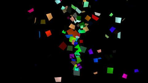 flying paper card debris,explosion scrap Stock Video Footage