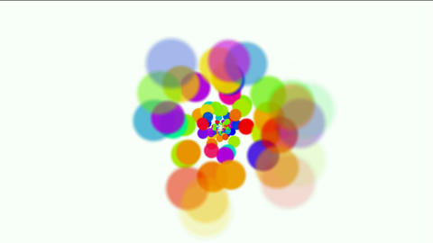 dancing dots and particles,abstract colorful circles loop,bubble and blister bac Animation