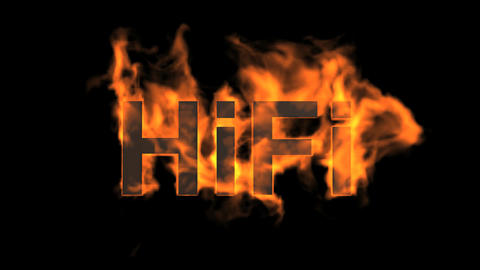 flame hifi word,fire text Animation