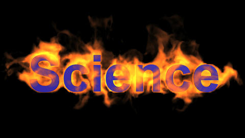 flame science word,fire text Animation