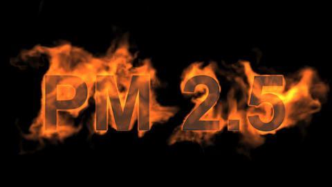 flame PM2.5 word,fire text Stock Video Footage