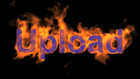 flame blue upload word Stock Video Footage