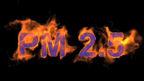 flame blue PM2.5 word,fire text Stock Video Footage