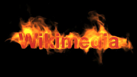 flame wikimedia word,fire text Animation