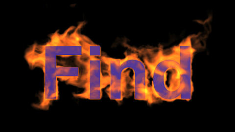 flame blue find word,fire text Stock Video Footage