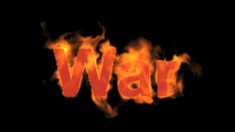 fire blue war text,fire word Animation
