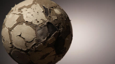 Old soccerball, seamless rotation Stock Video Footage
