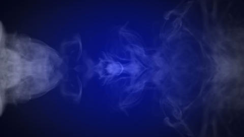 Blue smoke and fire lines Stock Video Footage