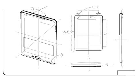 Tablet PC Technical Drawing Stock Video Footage