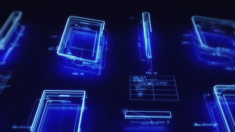 Mobile Computing Devices Design Concept Stock Video Footage