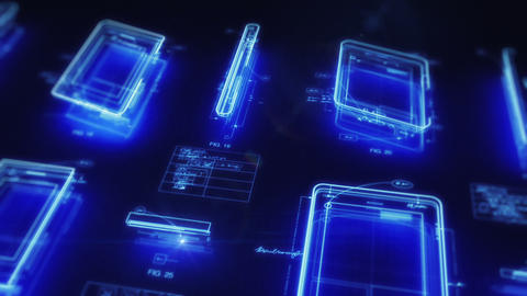 Mobile Computing Devices Design Concept stock footage