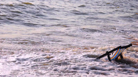 Chair Facing the Ocean Stock Video Footage