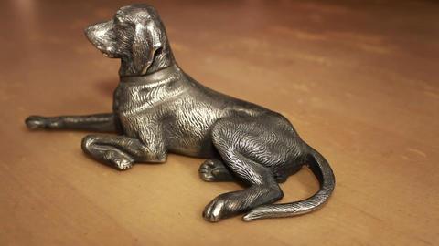 dog figurine Stock Video Footage