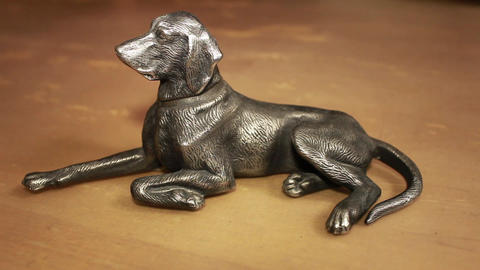 dog figurine Stock Video Footage