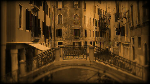 Canal in Venice. Old film Stock Video Footage
