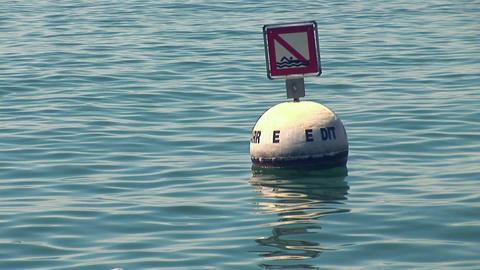 buoy in the lake Stock Video Footage
