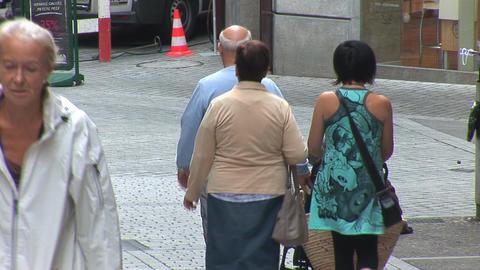 beggar in Lausanne Stock Video Footage