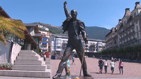 Statue Of Freddie Mercury stock footage