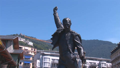 Statue of Freddie Mercury Stock Video Footage