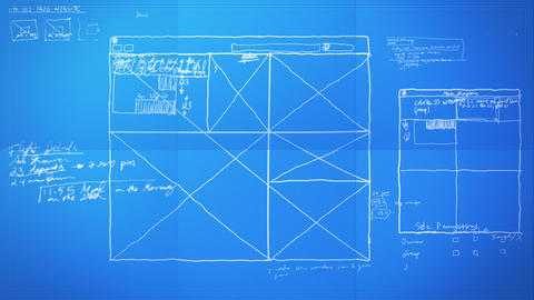 Graphic Design Layout Process Time Lapse Blueprint Stock Video Footage