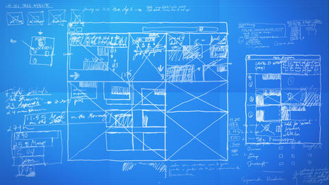 Graphic Design Layout Process Time Lapse Blueprint Animation