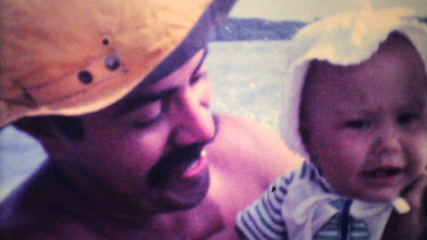 Dad Takes His Baby For Speed Boat Ride 1979 Vintage 8mm film Footage