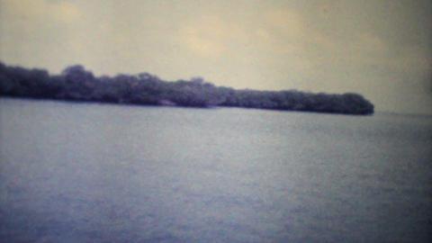 Speed Boat Cruising On The Ocean 1979 Vintage 8mm film Stock Video Footage