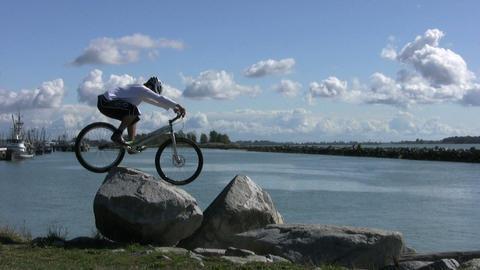 Trials Mountain Bike Jumping On Rocks 2 Footage