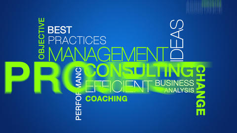 Management Consulting word cloud text animation Stock Video Footage