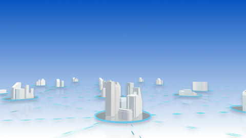 Network City 4 Cc HD Stock Video Footage