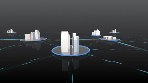 Network City 4 Fb HD Stock Video Footage