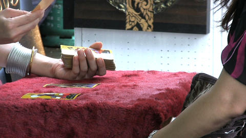 Tarot Card Reading Session Stock Video Footage