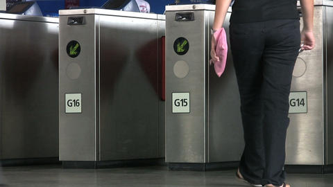 Turnstile In Bangkok Sky Train Station Footage