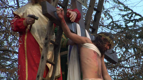 christ deposition 04 Stock Video Footage