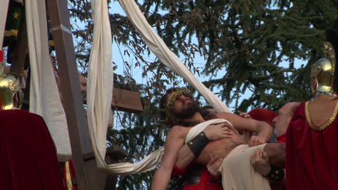 christ deposition 06 Stock Video Footage