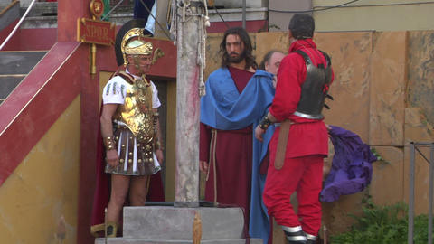 christ flagellation 02 Stock Video Footage