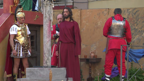 christ flagellation 02 Stock Video Footage