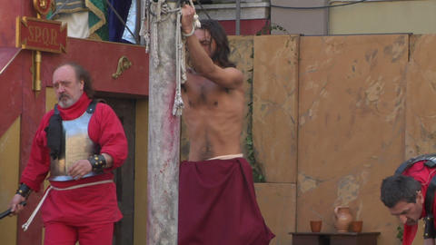 christ flagellation 04 Stock Video Footage