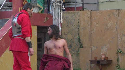 christ flagellation 06 Stock Video Footage