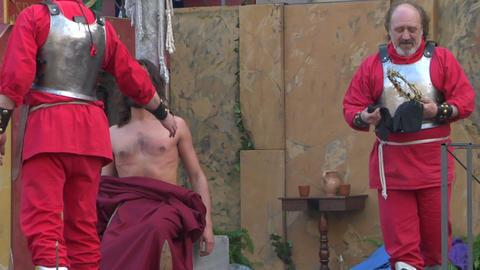 christ flagellation 06 Stock Video Footage