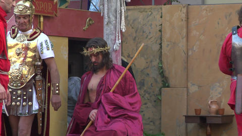 christ flagellation 10 Stock Video Footage