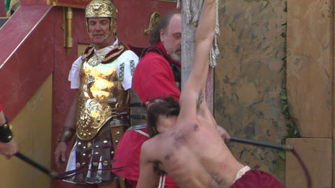christ flagellation slow motion 02 Footage
