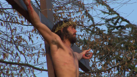 cross christ 01 Stock Video Footage