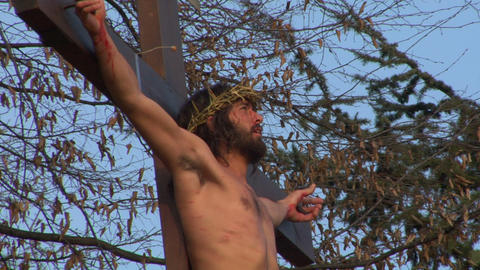 cross christ 01 Stock Video Footage