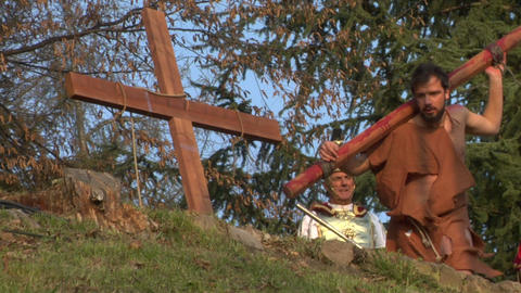 crucifixion robber Stock Video Footage