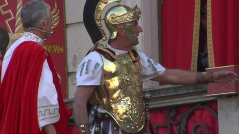 pilate tribunal barabbas 01 Stock Video Footage