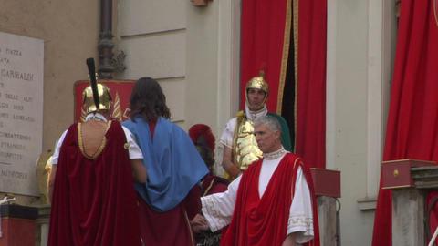 pilate tribunal christ 01 Stock Video Footage